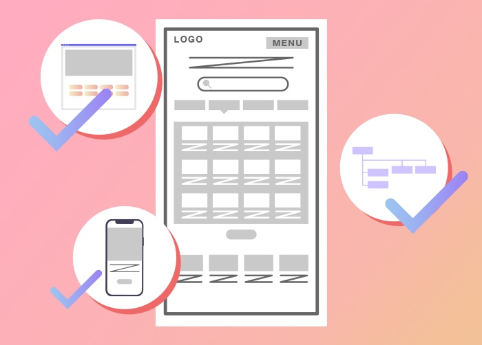 Web制作におけるワイヤーフレームのチェックポイント